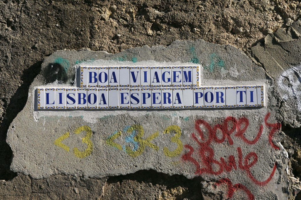 Tile graffiti in Lisbon
