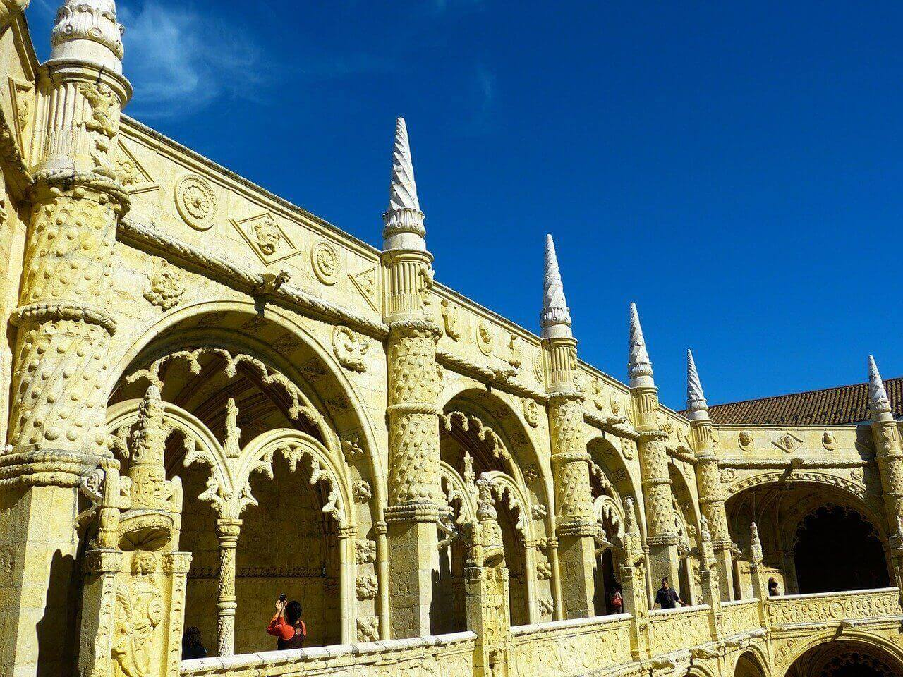 The inside of the Jerónimos Monastery, in Lisbon