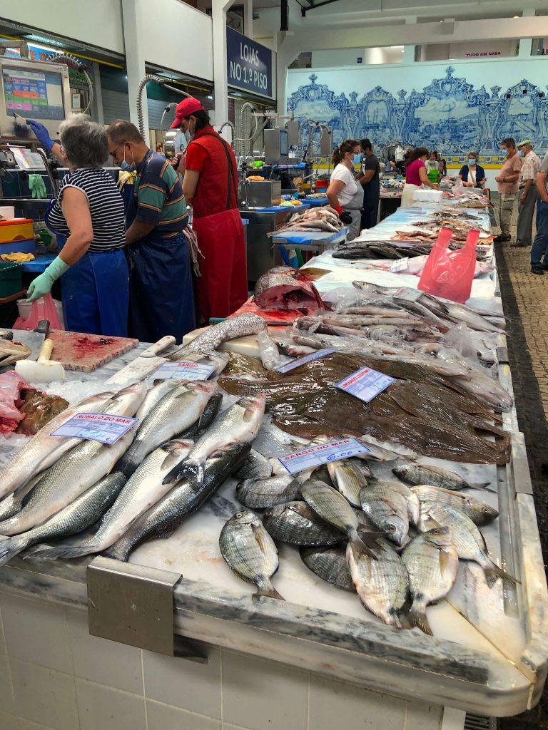 Fish market of Setubal